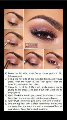 Naked3 Naked 3 Tutorial, Eye Tutorial, Eye Makeup Tutorials, Prom Makeup Tutorial, Beauty Tutorials, Makeup Tutorial Step By Step, Makeup Ideas, Makeup Box, Best Makeup Tips