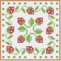 BISCORNU, ALFILETEROS, GUARDATIJERAS, ....A PUNO DE CRUZ | Aprender manualidades es facilisimo.com Biscornu Cross Stitch, Cross Stitch Fruit, Cross Stitch Books, Mini Cross Stitch, Cross Stitch Borders, Cross Stitch Flowers, Counted Cross Stitch Patterns, Cross Stitch Charts, Cross Stitch Designs