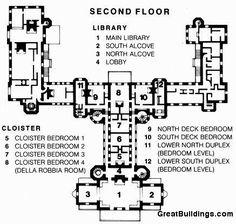 San Simeon, second floor plan