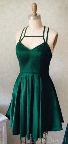 Emerald Green Cross Back Short Homecoming Dresses Online, Cheap Short – LoverBridal