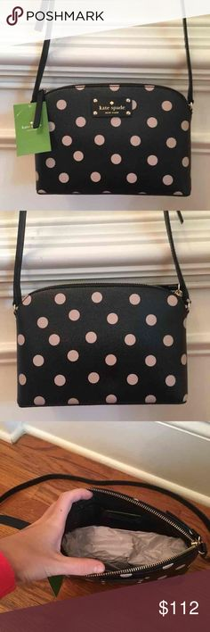 ❗️SALE❗️$178 Kate Spade Crossbody New with tags $178 Kate Spade hanna cross body in blk/dcobge// brand new, perfect condition, never used before. kate spade Bags Crossbody Bags