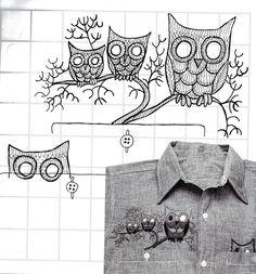 Erica Wilson .......... Owl Shisha embroidery pattern