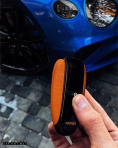 Print Corner Porte-cl/és Luxury Acier//Simili-Cuir Bentley Blanc