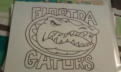 gator logo for my friend Drawing Stuff, Drawing Art, Gator Logo, Florida Gators, Georgia Bulldogs, My Drawings, My Friend, Football, Canvas