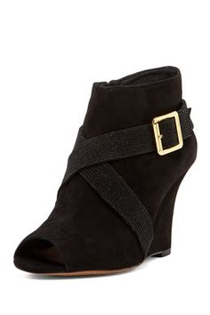 Pamari Leather Wedge Bootie