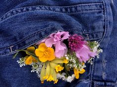 He put flowers in the pocket of her denim jacket for her to find, because he'd do anything to make her smile.