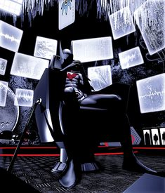 The bat-cave, possibly the most iconic place known for using the internet and technology to spy on a villain. With everyone on social media now I guess batman just has to wait for the Joker to update his status on Facebook to find his location.