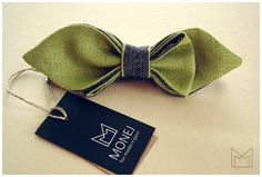 SALE 20% Green Skinny Bow Tie FREE SHIPPING  by MonejBowTies