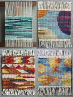 Helen Smith, tapestries for Weaving Tapestry on Little Looms online class with Rebecca Mezoff. www.tapestryweaving.com