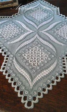 Hardanger Embroidery Tutorial beautiful subtle use of color Hardanger Embroidery, Embroidery Stitches, Embroidery Patterns, Hand Embroidery, Cross Stitches, Broderie Bargello, Bargello Needlepoint, Types Of Embroidery, Learn Embroidery