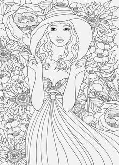spring coloring page - Fashion Coloring Pages