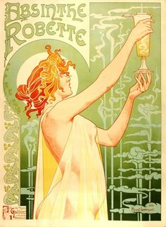 Art Nouveau poster. Literally on my wall :)
