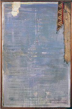 Fausto Fiato, Quadro blu arte materica astratta. Pittura, Napoli. Serie opere su tela il cui oggetto di studio è il tempo e la trasformazione che questo opera sulle superfici e su noi stessi.