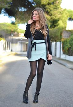 Choies  Skirts, Stradivarius  Sweaters and Zara  Cardigans