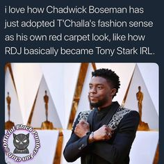 He realizes that he REALLY is the Black Panther forever!!! Have you noticed how @chadwickboseman wears black all of the time now! FOLLOW @officialblackpantherfanclub . . . . . . . . . . . #OfficialBlackPantherFanClub #BlackPanther #ChadwickBoseman #BlackPanthermovie #Tchalla #Marvel #Disney #Avengers #Infinitywar #Lupitanyongo #Marvelstudios #Michaelbjordan #UK #DanielKaluuya #NY #DanaiGurira #Kenya #Paris #Oscars90 #Mbaku #Wakanda #WakandaForever #Joburg #Nigeria #RyanCoogler #Shuri #Ghana…