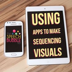 Find out how to quickly use this FREE app to make sequencing visuals for speech therapy! #SLP #BackToSchool #therapist #OT #SPED #classroom #tech #iPad