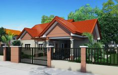 Floor plans like Small House Designs Series: offers simplicity and economy. The house plan features porch, entry, rear patio and. Bungalow House Design, Small House Design, Dream Home Design, Three Bedroom House Plan, House Design Pictures, Built In Cabinets, Pinoy, Floor Plans, Patio
