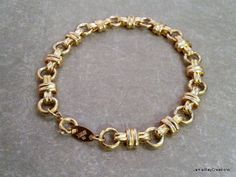 Vintage Trifari Gold Tone Square Knot Metal Bracelet from JamieRayCreations on Etsy, $19.50 https://www.etsy.com/listing/170225544
