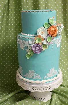 Cascading Floral Cake