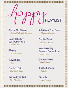 (*) happy playlist