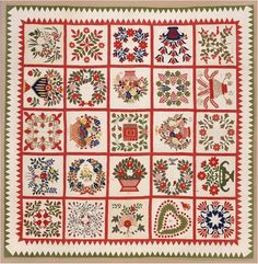 Old Otterbein Quilt, 102 x 105,  Winterthur Museum.  Created in 1854 by members of the Old Otterbein Church.  A reproduction pattern is available.