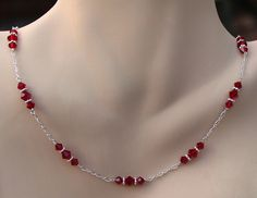 Siam Triple Crystal Necklace | by Handmade by Diana