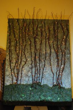 Lighted branch canvas for my sister