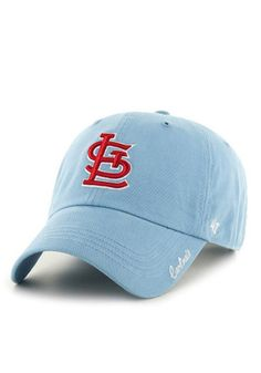 6a38e83e3dee8  47 St Louis Cardinals Light Blue Miata Clean Up Adjustable Hat Baseball  Game Outfits