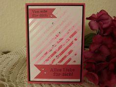 Grußkarte - Von mir für dich, alles Liebe... von Kreatives Herzerl auf DaWanda.com