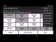 Interval Recognition Ear Train Android Apps On Google Play Recognition Intervals App