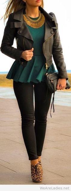 Black and green look