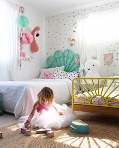 Kids bedroom ideas - my girls shared bedroom, more on the blog
