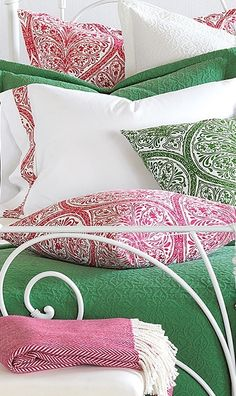 The Mea Bedding Collection brings a fresh color palette and lightweight warmth to the bedroom.