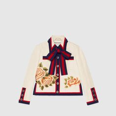 Gucci Silk cotton embroidered jacket