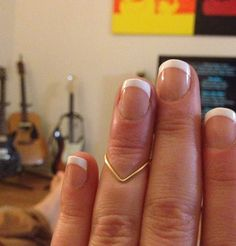Chevron Knuckle Ring by MadebyLeahSue on Etsy, $3.00