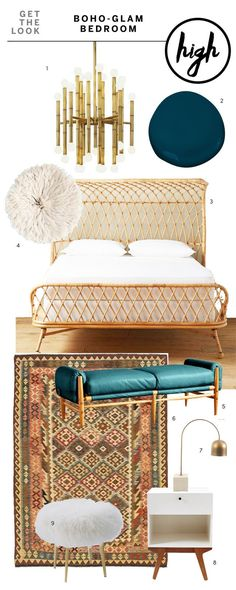 High & Low: Get the Boho Glam Bedroom Look | Apartment Therapy