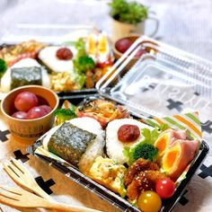 ベーコン巻きのお弁当2 Cute Food, I Love Food, Asian Recipes, Healthy Recipes, Japanese Food, Kids Meals, Food And Drink, Cooking Recipes, Lunch