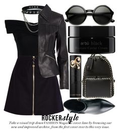 """ROCKER STYLE"" by noraaaaaaaaa ❤ liked on Polyvore featuring Chicwish, Acne Studios, Alexander Wang, Valentino, Kim Kwang, arbÅ« and ZeroUV"