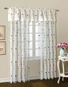Loretta embroidered sheer curtains are an elegant or casual addition to any window.   #Rod #Pocket #Panel