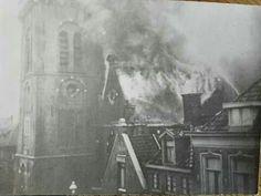 Brand hervormde kerk 1939.