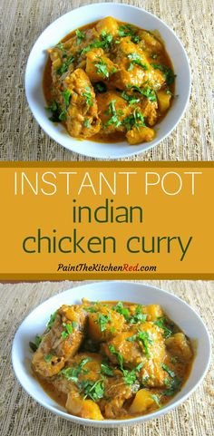 This authentic Indian Instant Pot chicken curry is a delicious family recipe. Made with bone-in chicken, the Instant Pot cooks up tender chicken with lots of flavor. Instant Pot Pressure Cooker, Pressure Cooker Recipes, Pressure Cooking, 21 Day Fix, Quick Chicken Curry, Curry Chicken Crock Pot Recipe, Ip Chicken, Slow Cooker Chicken Curry, Pots