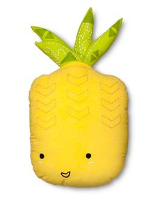 A pineapple pillow that's always pleased to see you.
