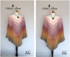 Morning Glow Poncho - Made in Assen, made by Zilla - Gratis haakpatroon - Hobbii Twister, Sweet Olive Crocheting, Knit Crochet, Tie Dye, Glow, Diagram, Knitting, Sweet, How To Make, Fashion