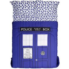 Doctor Who TARDIS Queen Comforter Hot Topic (22 CAD) ❤ liked on Polyvore featuring home, bed & bath, bedding, comforters, queen pillowcases, polyester comforter, queen bed linens, queen pillow cases and queen bedding