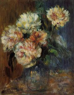Vase of Peonies (Pierre Auguste Renoir - circa 1890)