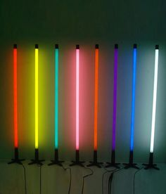 Neon Tube Floor Lamp in Five Colours
