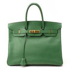 Hermes Birkin 35 In Vert Pomme.
