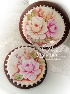 Beautiful Hand Painted Cupcake Toppers