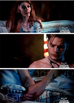 Clary and Jace. From promo of episode 2x17 #Shadowhunters