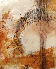 Yuko Wada, untitled, sumi, beeswax, pigment on washi